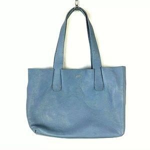 Perlina Periwinkle Leather Tote  Shoulder Bag